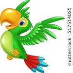 cartoon happy parrot  | Shutterstock .eps vector #517514035