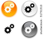 settings glossy round vector... | Shutterstock .eps vector #51751513