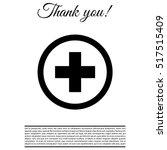 medical cross icon   Shutterstock .eps vector #517515409