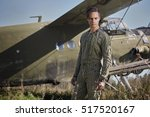 man  the pilot prepares for... | Shutterstock . vector #517520167