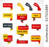 vector stickers  price tag ... | Shutterstock .eps vector #517521889