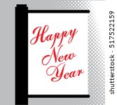 happy new year greeting card... | Shutterstock .eps vector #517522159