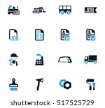 job icon set for web sites and... | Shutterstock .eps vector #517525729