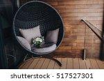 wedding bridal bouquet is in a... | Shutterstock . vector #517527301