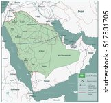 saudi arabia map with... | Shutterstock .eps vector #517531705