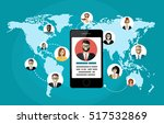 social network  people... | Shutterstock .eps vector #517532869