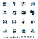 vector machine tool icons set.... | Shutterstock .eps vector #517533919
