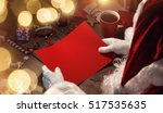 santa claus with gifts and red... | Shutterstock . vector #517535635