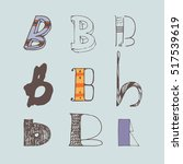 vector set of colorful alphabet ... | Shutterstock .eps vector #517539619