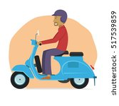 young guy riding classic...   Shutterstock .eps vector #517539859