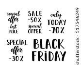 vector set of hand drawn sale... | Shutterstock .eps vector #517546249