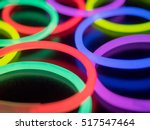 colorful fluorescent light neon ... | Shutterstock . vector #517547464