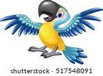 happy macaw flying | Shutterstock .eps vector #517548091