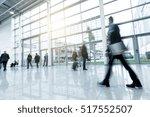 trade fair floor with blurred... | Shutterstock . vector #517552507
