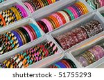 A Set Of Colorful Bangles On...