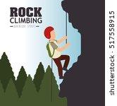 rock climbing man emblem graphic   Shutterstock .eps vector #517558915
