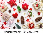 christmas background with... | Shutterstock . vector #517563895