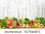 organic vegetables and fruits | Shutterstock . vector #517566871
