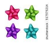 vector set of bright purple... | Shutterstock .eps vector #517575214