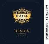 monogram design elements ... | Shutterstock .eps vector #517576495