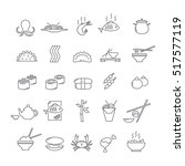 set of icons with asian food | Shutterstock .eps vector #517577119