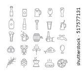 icons of beer | Shutterstock .eps vector #517577131