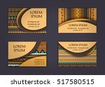 business card or visiting card... | Shutterstock .eps vector #517580515