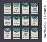 vintage banners cards set....   Shutterstock .eps vector #517580551
