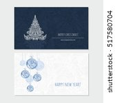 merry christmas and happy new... | Shutterstock .eps vector #517580704