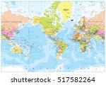 world map   america in center   ... | Shutterstock .eps vector #517582264