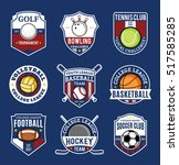 set of sport team logo isolated ... | Shutterstock .eps vector #517585285