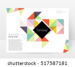 geometric background template... | Shutterstock .eps vector #517587181