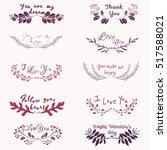 hand drawn lovely romantic... | Shutterstock .eps vector #517588021
