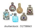 Six Antique Perfume Glass...
