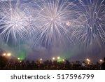 firework and spectators   Shutterstock . vector #517596799