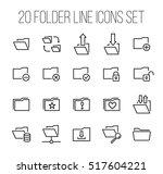 set of folder icons in modern... | Shutterstock .eps vector #517604221