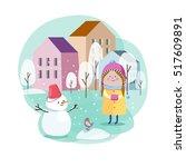 vector illustration of... | Shutterstock .eps vector #517609891