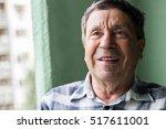 portrait of a smiling senior... | Shutterstock . vector #517611001