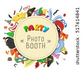 party birthday photo booth... | Shutterstock . vector #517614841