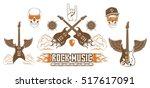 graphic set. symbol of rock... | Shutterstock .eps vector #517617091