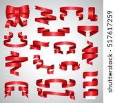 ribbon icons set   vector... | Shutterstock .eps vector #517617259