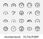 set of speedometer icons in... | Shutterstock .eps vector #517619389