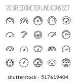 set of speedometer icons in...   Shutterstock .eps vector #517619404