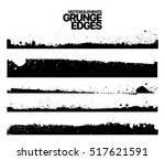 hand drawn edges pattern... | Shutterstock .eps vector #517621591