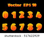 burning numbers from zero to... | Shutterstock .eps vector #517622929