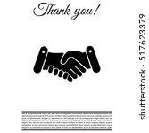 handshake icon  | Shutterstock .eps vector #517623379