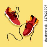 vector running shoes   sneakers