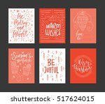 collection of handdrawn... | Shutterstock .eps vector #517624015
