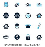 real estate icons set for web... | Shutterstock .eps vector #517625764