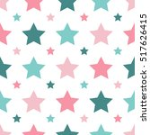 seamless pattern with stars.... | Shutterstock .eps vector #517626415